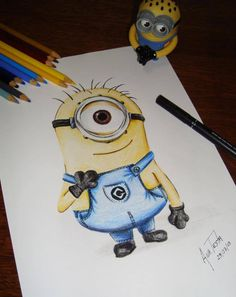 Minions for daddy to draw.