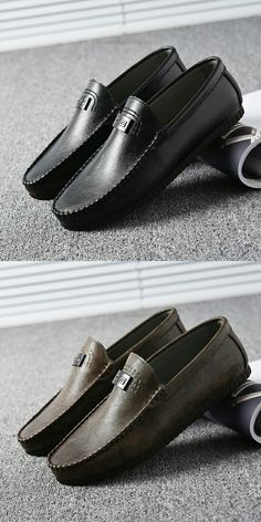 47cf2df6d53 US  26.50 Luxury Brand Summer Men Casual Shoes Leather Men Driving Loafer  Shoes Breathable Top Sider