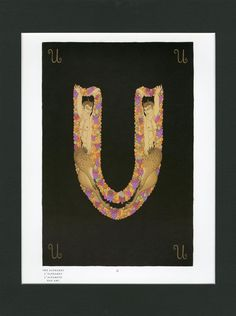 "Erte MATTED Art Deco Print - Letter ""U"" - The Alphabet Series c. 1982 ~ Art Deco Decor - Original Vintage Erte Book Plate - Ready To Frame by VintageAdWorld on Etsy"