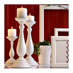 ÅRYD, Block candle holder, white, $14.99