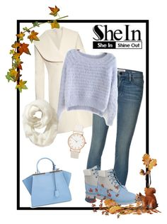 """""""♥"""" by elablue123 ❤ liked on Polyvore featuring J.W. Anderson, Frame Denim, Fendi, Timberland and Old Navy"""
