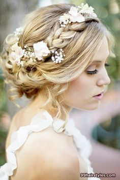 prefect blonde wedding hairstyle with braids - 99 Hairstyles Ideas