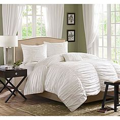 Madison Park Catalina White 4-piece King-size Comforter Set