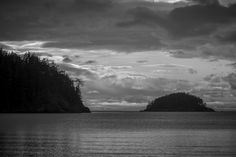 Cloudy Winter Day on Bowman Bay, Deception Pass State Park, Washington, 2015   Click the picture above for information on purchasing a fine art photography wall print. #blackandwhite #landscape #pacificnorthwest