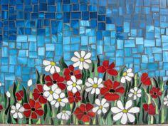 Mosaic panel FIELD OF FLOWERS por andreamosaic en Etsy Más