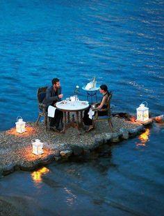 Hotel Kivotos Private Dining - Mykonos, Greece...WOW