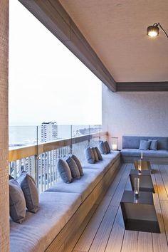 Residenza A Montecarlo - Picture gallery Terrace Decor, Home Interior Design, House Design, Apartment Design, Terrace Design, Interior Balcony, House Interior, House Balcony Design, Home Deco