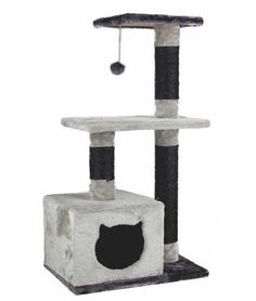 Gray Pawz Road Cat Tree and Scratching Post with Toy Ball   Cats love it!