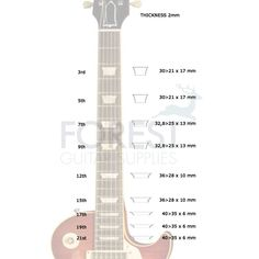Les paul headstock template pdf cerca con google guitar making gibson les paul standard trapezoid style real white mother of pearl inlay set freerunsca Images