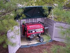 Storage shed generator sheds plans portable enclosure finished Diy Generator, Emergency Generator, Portable Generator, Power Generator, Honda Generator, Outdoor Projects, Home Projects, Diy Décoration, Sound Proofing