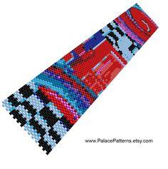 Bracelet Pattern - Bead Loom and Single Peyote Pattern - PP150 by PalacePatterns on Etsy