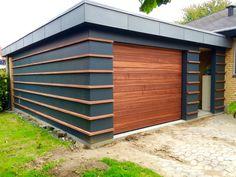Backyard Office, Backyard Studio, Modern Backyard, House Cladding, Exterior Cladding, Facade House, Garage Exterior, Garage Door Design, Mobile Home Exteriors