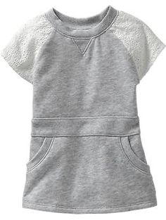 Eyelet-Sleeve Terry Tunics for Baby | Old Navy