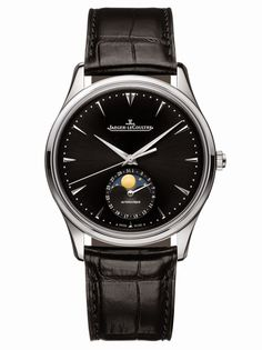 Jaeger-LeCoultre Master Ultra Thin Moon in stainless steel with black dial | Time and Watches