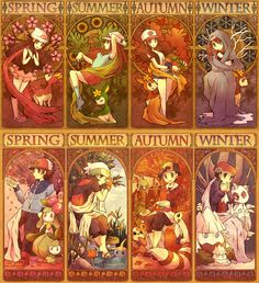 Pokemon Noveau Seasons (http://www.pixiv.net/member_illust.php?mode=medium&illust_id=16230100)