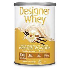 Designer Whey Protein Powder Vanilla Almond - 12 Oz