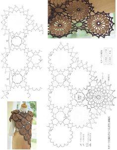 Share Knit and Crochet: Dark brown shawl crochet pattern