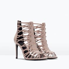 LEATHER HIGH HEEL SANDAL-Heeled sandals-Shoes-WOMAN | ZARA United States