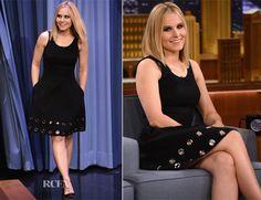 Kristen Bell In Michael Kors – The Tonight Show Starring Jimmy Fallon