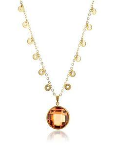63% OFF Belargo Round Pendant Necklace