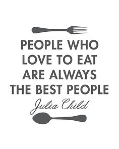 Julia Child Quote Poster Kitchen Print Art by PrintableQuirks