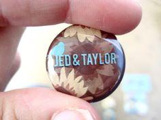 Wedding favor buttons    More Wedding Favors at: www.RealWeddingDay.com