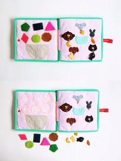 Baby toy fabric soft book travel toys kids by SerZiHandicrafts