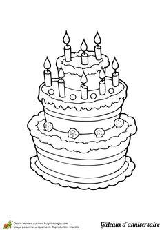 Coloriage d'un gâteau à la fraise et à la cerise tout en participant à la fête d'anniversaire surprise
