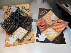 These cards have a unique fold inside & can be used for many types of cards. Calla Lily Studio Blog: Halloween Cards!