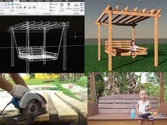 DIY - GARDEN PERGOLA SWING - Membuat ayuna kayu - YouTube
