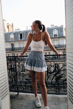 VSCO - btapiero Europe Outfits Summer, Stylish Summer Outfits, Vacation Outfits, Spring Outfits, Summer Dresses, Summer Clothes, Trendy Outfits, Casual Dresses, Cropped Top Outfits