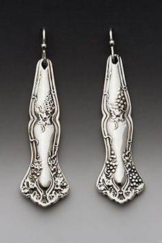 Silver Spoon Earrings.  I just love these.