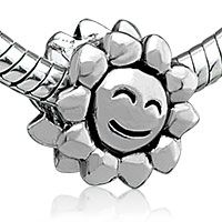 Pugster Smiley Sun Silver Plated Style Pandora Beads