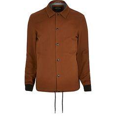 Rust brown casual coach jacket - £50 #RImenswear