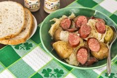 Slow Cooker Sausage, Cabbage and Potatoes - Wonderful blend of delicious flavor!  www.GetCrocked.com