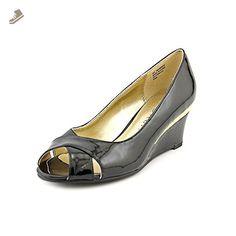 Karen Scott Friscco Womens Size 8.5 Black Peep Toe Wedges Heels Shoes - Karen scott pumps for women (*Amazon Partner-Link)