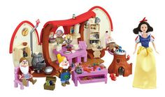 Disney Princess Snow White Playset This complete Snow White playset includes a Snow White Doll, all seven dwarfs and a Jewellery Workshop. This dwarf toy play house lets you act out your favourite scenes from your favourite fairytales! http://www.comparestoreprices.co.uk/childs-toys/disney-princess-snow-white-playset.asp