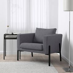IKEA offers everything from living room furniture to mattresses and bedroom furniture so that you can design your life at home. Check out our furniture and home furnishings! Secret Storage, Hidden Storage, Design Ikea, Ikea Armchair, Ikea Fabric, Ikea Family, Fabric Armchairs, Small Armchairs, Chair Bed