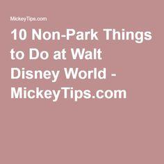 10 Non-Park Things to Do at Walt Disney World - MickeyTips.com