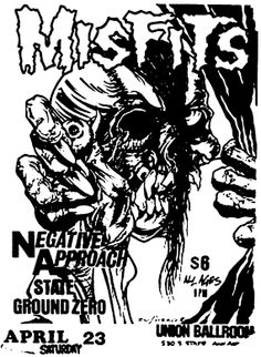 Misfits vintage punk rock flyer custom t-shirt