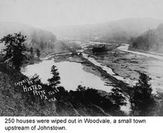 The Johnstown Flood.  On May 31, 1889, a neglected dam and a phenomenal storm led to a catastrophe in which 2,209 people died.