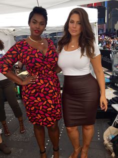 Model Gal Pals from Ashley Graham's New York Fashion Week Spring 2016 Photo Diary  Quick pic with Precious Lee, one of my close friends and fellow curvy models who starred in the #PlusisEqual campaign with me. I love working with other females who share the same views on body positivity.