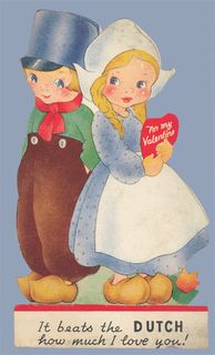Vintage Valentine Museum: Wooden Shoe Be Mine? Dutch Themes