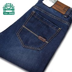 NianJeep 2015 Original Brand 100% Cotton Mans casual Jeans,Mid Waist mid waist cotton Jeans,Wholesale Real Man Slim Trousers