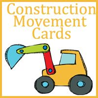 These movement cards are designed to go with all the bookI Am a Backhoe Scroll Down to download the Construction Movement Cards! Graphics fromKPM Doodles and Funky Mushroom &...