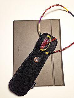 Stylus Holder Pen Holder Eyeglass Case Pencil Case by Wrapsodic