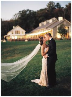 Happy bride and groom at the picturesque Pippin Hill Farm & Vineyards near Charlottesville, VA. Image by Eric Kelley.