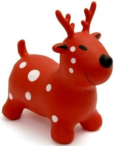 Happy Hopperz Red Reindeer - Toddler Ride On Inflatable Space Hopper