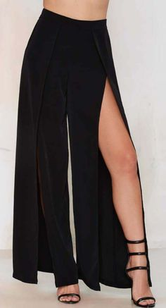 Make a Peep Palazzo Pants - Black