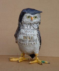 Paper Mache Sculptures by Aude Goalec & Nicole Jacobs - My Owl Barn